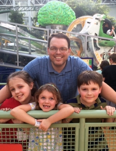 Dad and kids at MOA